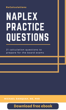 Download Free Ebook - NAPLEX Practice Questions - RxCalculations