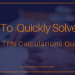 How to Quickly Solve This Tricky TPN Calculations Question