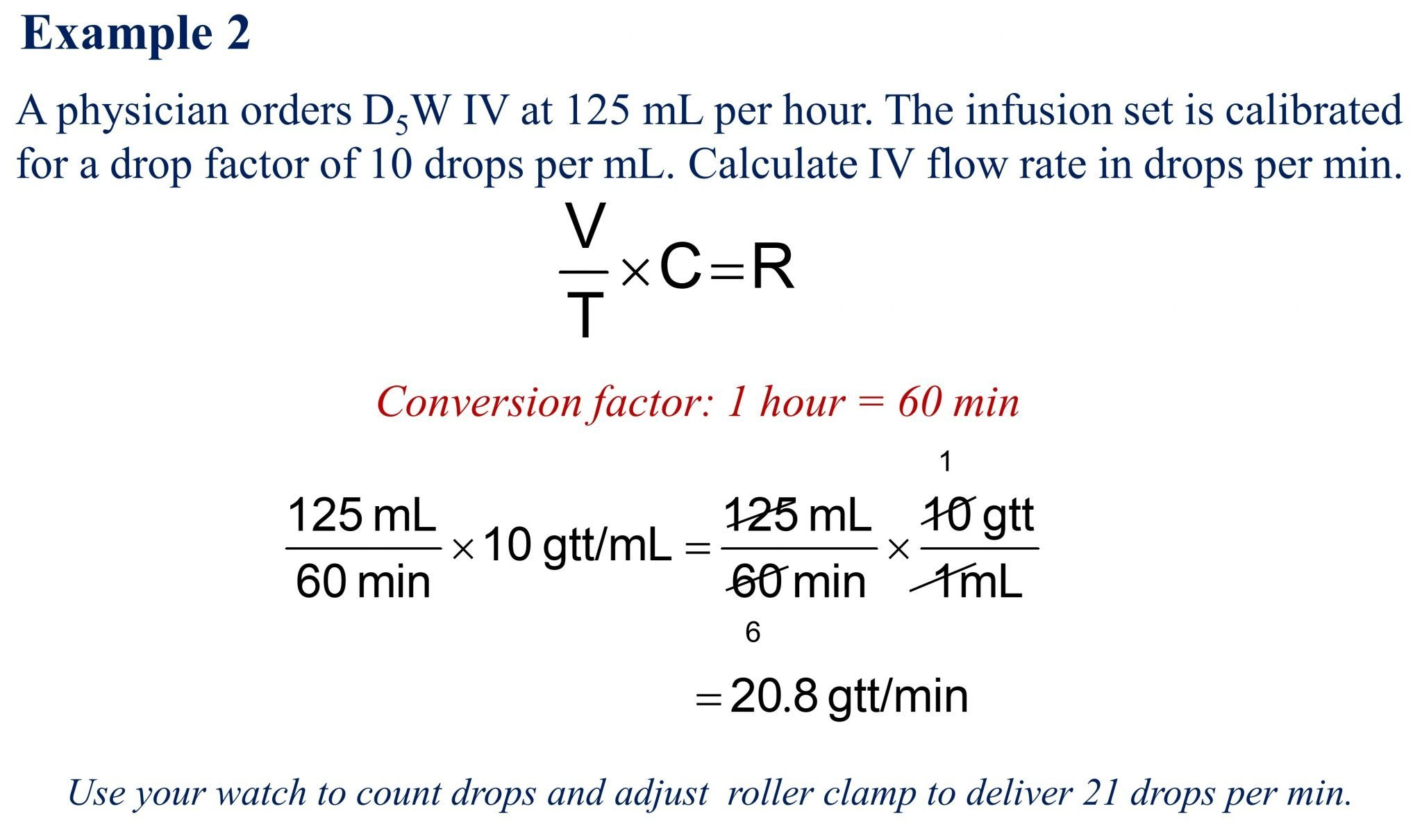IV Flow Rate Calculations-Example 2-RxCalculations-